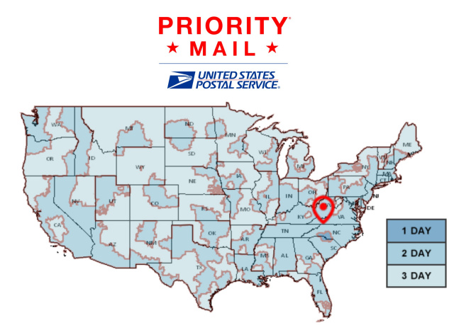 USPS SHIPPING - Us postal service transit map