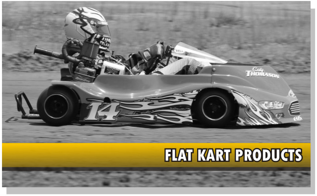 Graphics and decals for racing go-karts, oval flat karts, champ